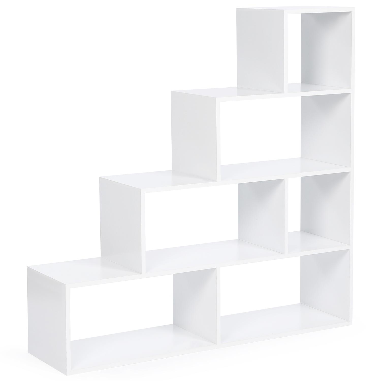 Etagere Murale En Escalier idmarket bibliothèque escalier lina bois blanc bibliothèques