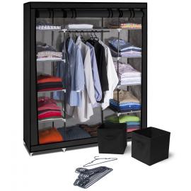 Armoire rangement optimal noire + accessoires
