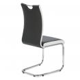 Lot de 4 chaises PIA grises et blanches pour salle à manger