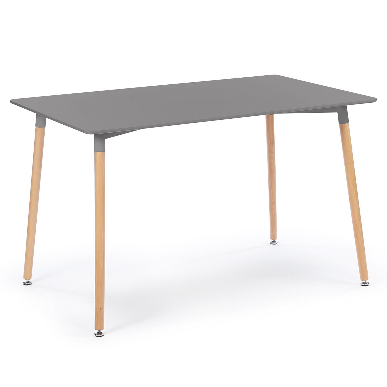 Table À Manger Nordique table à manger scandinave sara 120 cm grise anthracite idmarket