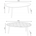 SET X2 TABLES BASSES GIGOGNE BLANCHE ET COLOREE
