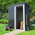 Abri de jardin 1.3 m² gris en acier galvanisé