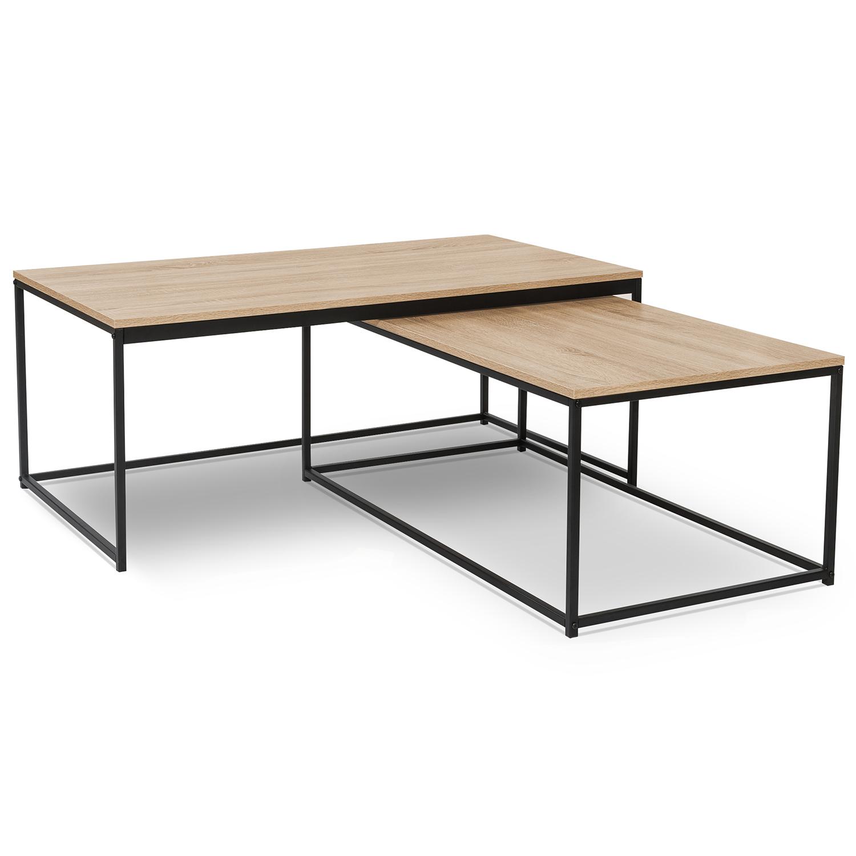 Lot De 2 Tables Basses Gigognes Detroit 100 113 Design Industriel