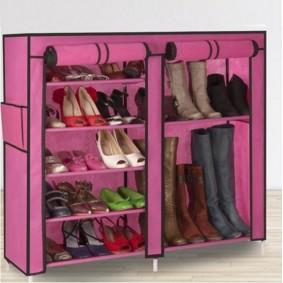 Armoire étagère Chaussures Rangement Rose GM 90x100x30