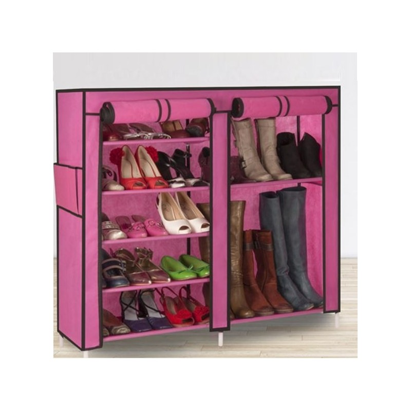 armoire tag re chaussures rangement rose gm 90x100x30. Black Bedroom Furniture Sets. Home Design Ideas