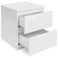 Lot de 2 chevet bois blanc Tomi
