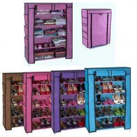 Armoire étagère Chaussures Rangement Violet PM 90x60x30