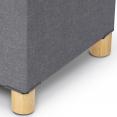 Banc coffre rangement 76 cm en tissu gris anthracite