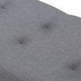 Banc coffre rangement 100 cm en tissu gris anthracite
