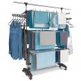 Séchoir modulable 30 accessoires 3 niveaux gris