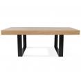Table à manger PHOENIX 224 CM bois et noir