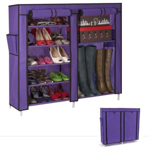 Armoire étagère Chaussures Rangement Violet GM 90x100x30