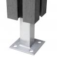 Kit 2 panneaux d'occultation en bois composite gris