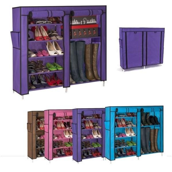 Armoire tag re chaussures rangement violet gm 90x100x30 - Etagere rangement chaussures ...