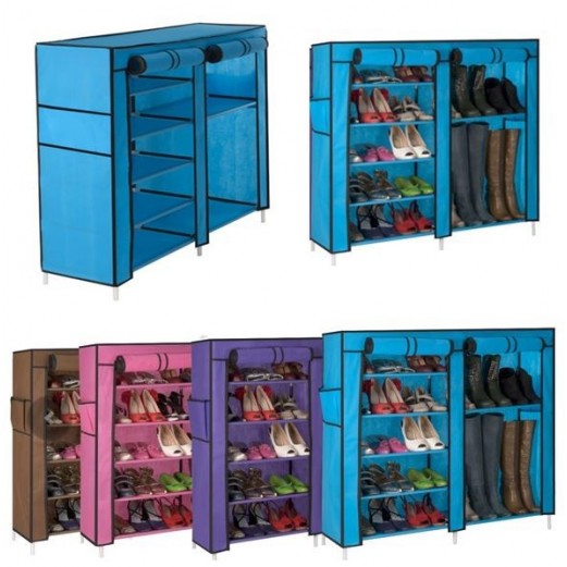 Armoire étagère Chaussures Rangement Bleu GM 90x100x30
