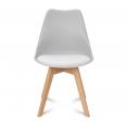 Chaises x4 SARA gris clair pour salle à manger