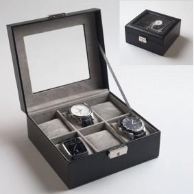Coffret de rangement 6 montres aspect cuir
