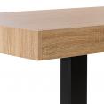 Table à manger PHOENIX 6 personnes bois et noir 160 cm