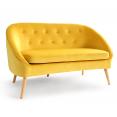 Canapé banquette en velours SONIA jaune