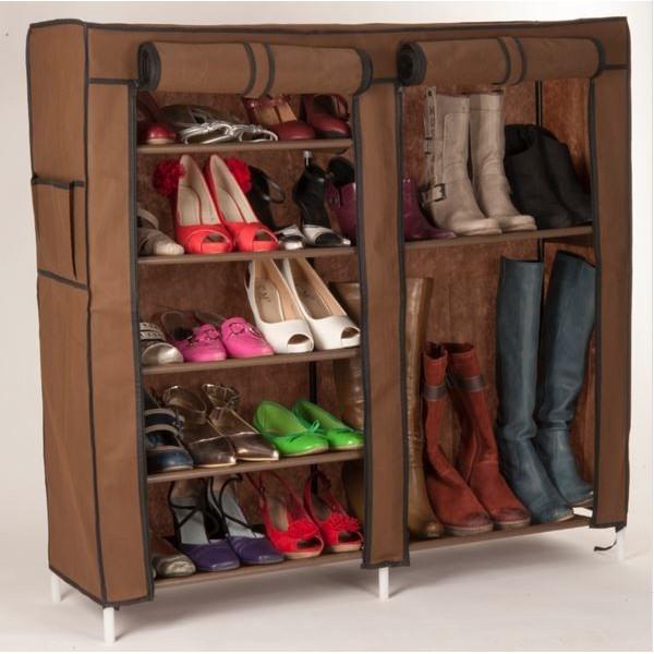 etagere chaussure avec housse