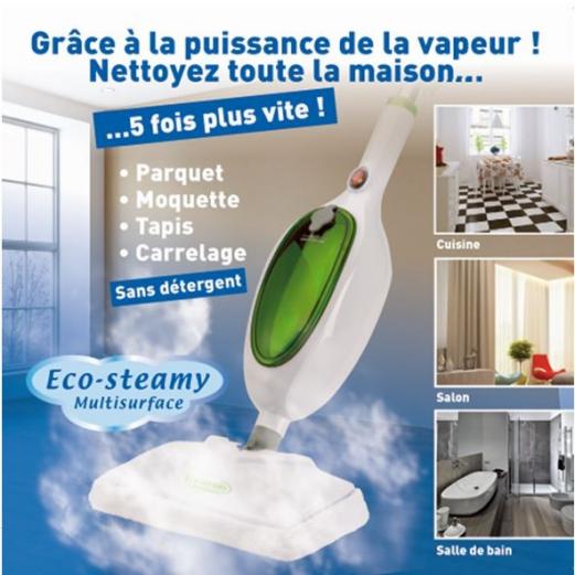 Balai Eco mop vapeur vert