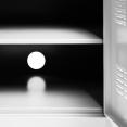 Buffet bas 3 portes ESTEL en métal blanc