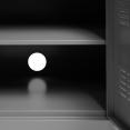 Buffet bas 3 portes en métal gris foncé ESTEL