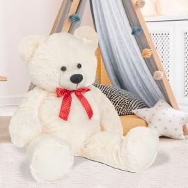 Ours en peluche géant 100 cm blanc