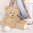 Ours en peluche géant 100 cm beige