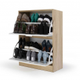 MEUBLE CHAUSSURES HETRE 2 PORTES BLANCHES