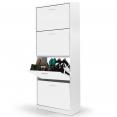Meuble à chaussures 4 portes blanc (SANS FOND)