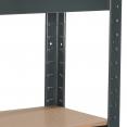 Étagère modulable charges lourdes en métal 5 plateaux grise