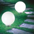 Lot de 2 lampes boules 20 CM LED solaires