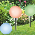 Lot de 2 lampes boules 30 CM LED color