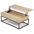 Table basse plateau relevable DETROIT design industriel