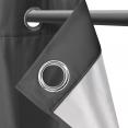 Lot de 2 rideaux thermiques gris anthracite 135x240 cm