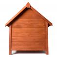 Niche en bois surélevée pour chiens toit ouvrant