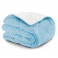 Couette 2 en 1 bicolore bleu et blanc 220x240 cm 170 gr