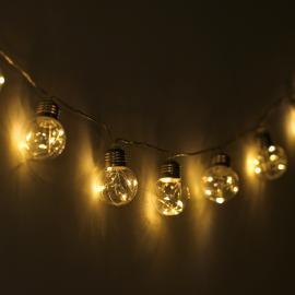 Guirlande ampoules solaires à filaments pour jardin