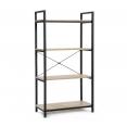 Etagère 4 niveaux DETROIT design industriel 130 cm