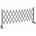 Barrière extensible grise treillis plastique 35 à 250 cm