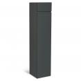 Meuble colonne suspendu 113 cm gris pour salle de bain LILA