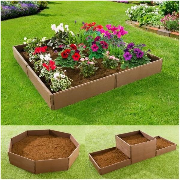 jardini re chassis bordurette de jardin modulable 8 pcs les pros de la b che. Black Bedroom Furniture Sets. Home Design Ideas