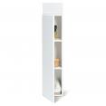 Meuble colonne suspendu 113 cm blanc pour salle de bain LILA