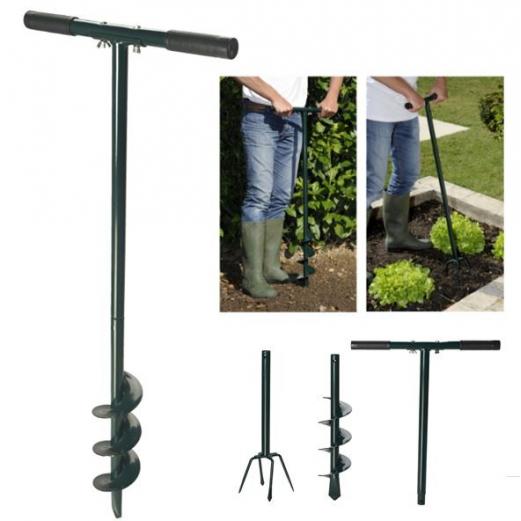 Tarière et griffe manuelle 2 en 1 spéciale poteaux et jeunes plants