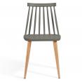 Lot de 4 chaises LILY gris foncé pour salle à manger
