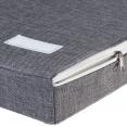 Banc-coffre d'entrée LEO bois blanc et gris