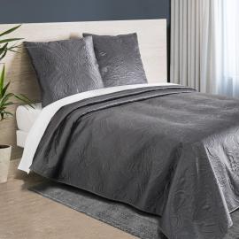 Ensemble couvre-lit 220x240 cm avec 2 taies d'oreiller gris