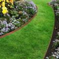 Bordurette de jardin flexible terracotta 10M avec 30 piquets d'ancrage
