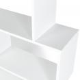 Etagère bibliothèque SOFIA forme S bois blanc 190 cm
